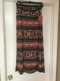 Mossimo Supply Co Womens Jr Med Printed Knit Maxi Skirt