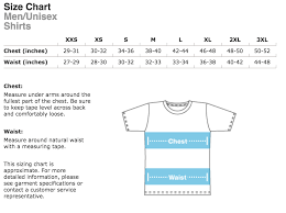 American Size Chart Unisex Shirt Sizing American Apparel Merch For The Movement