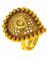 Traditional Ring Designs In Gold Gold Finish Finger Ring Traditional For Girls