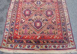 northwest persian kurdish long rug with classic geometricized fl design very colorful and without fading