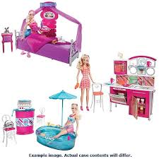 Barbie Deluxe Furniture and Doll Case Mattel Barbie Dolls at