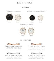 Watch Sizes Chart What Sizes Do Your Watches And Bracelets Come In