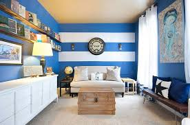 walls blue landscape wallpaper accent wall ideas for living room modern wooden dinning table withhouseplant white drum floor lamp window cornice boards