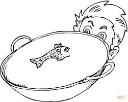 Utensili Da Cucina Da Colorare Per Bambini Con Disegno Di Pesce In