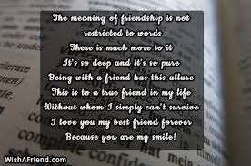 The Meaning Of Friendship Is Not Best Friend Quote Cool I Love You My Friend Quotes