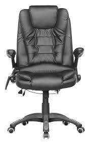 luxury leather office chair. cosmetic damage brown luxury leather 6 point massage office computer chair