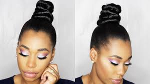 Top Knot Hair Style how to ninja top knot bun with braiding hair step by step 3199 by wearticles.com
