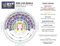 Wwe Live Seating Chart Ticketnet Online