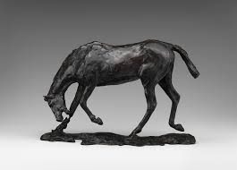 horse head lowered edgar degas work of art  horse head lowered