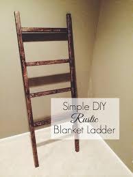 Diy Blanket Ladder A Blessed Nest Diy Rustic Blanket Ladder