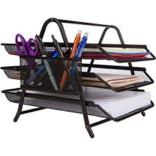 desk office file document paper. Office Desktop 3 Tier Letter Tray Organizer - Desk File Paper Document Inbox Outbox \u0026quot O