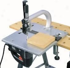 table jigsaw tool. jigsaw table with jig and fret saw blade guide. by the side of synopsis, you can make a single cut from underaide material tool bid or buy