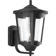 progress lighting east haven collection 1 light outdoor 9 5 inch black wall lantern