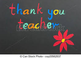 Teacher Message Thank You Teacher Red Flower