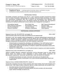 Sample Resume For Registered Nurse With No Experience Terrific New