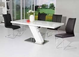 modern kitchen table. Modern White Lacquer Dining Contemporary Table On Marble Kitchen R