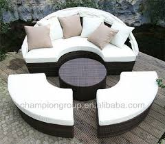 circular furniture. White Outdoor Garden Furniture Round Sofa With Canopy Circular