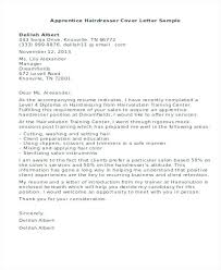 Sample Hairdresser Cover Letter Resume Of Hairdresser Hair Stylist