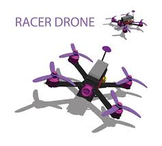 Violet <b>Racer</b> Drone <b>Quadrocopter</b> Stock Illustration - Download ...
