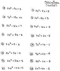 algebra 2 solving quadratic equations worksheet answers