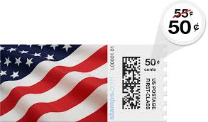 Stamps Com Usps Metered Mail First Class Stamp Discount