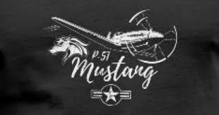 retro p 51 mustang wwii warbird fighter pilot gift men s v neck t shirt spreadshirt