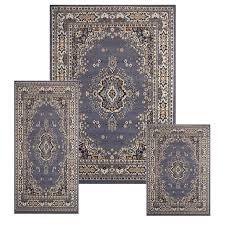 lifetime 4 piece area rug sets kenneth mink set florence collection pc isfahan blue emilydangerband 4 piece area rug sets