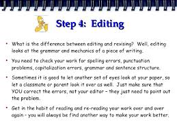 difference between editing and revising an essay