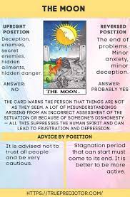 In the advice position, the moon tarot card is inviting you to have faith in your instincts and intuition. The Moon Meaning Of The Mayor Tarot Arcana True Prediction Get An Online Psychic Reading From One Of Tarot Cards For Beginners The Moon Tarot Empress Tarot
