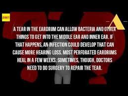 pain relief for ruptured eardrum