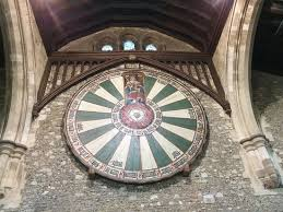 the great hall the replica of king arthur s round table constructed by edward i