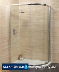 rival 8mm 1000 x 800 offset quadrant single door shower enclosure