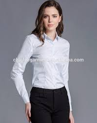 Female Office Shirt Designs Latest White Color Formal Shirts Designs For Women Office Buy Formal Shirt Designs White Color Shirt Women Office Shirts Product On Alibaba Com