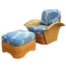 deco garden furniture. Restored Art Deco Rattan Fan Arm Lounge Chair With Ottoman For Sale Deco Garden Furniture N
