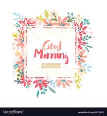 good morning monday vector image