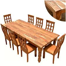 Furniture Farmhouse Solid Wood Dining Table Chair Set - Solid wood dining room tables