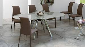round glass extending dining table