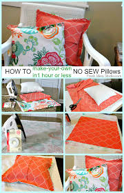 make your own pillow no sew pillow cover