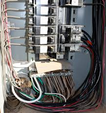 wiring the shop for 220v ~ half inch shy Sub Panel Breaker Box Wiring Diagram back inside the service panel, route and connect the wires to the breakers the subpanel breaker is on the right above the \
