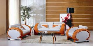 7391 orange&white living room furniture