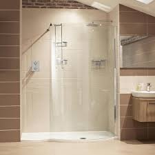 Unique Curved Shower Enclosures Uk Chic Glass Walk In With Decor
