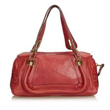 chloéleather paraty handbag