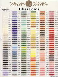 Bead Color Chart Veracious Mill Hill Bead Color Chart Conversion Of Mill Hill