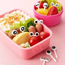 Decor Lunch Boxes 60 PcsSet Cute Eyes Design Food Fruit Picks Forks Lunch Box 54