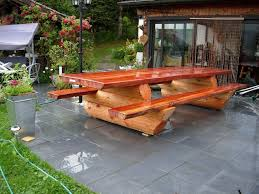 Table De Jardin En Rondin De Bois Photos Payn Us Payn Us