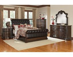 The Monticello Sleigh Bedroom Collection Pecan