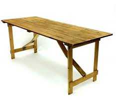 wooden rustic trestle table hire 6 x