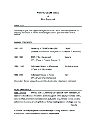 Public Relations Objective Resume Best Objective Resume Resume For Study 23
