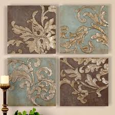 karsyn wall art set antique gold set of four touchofclass in 2017 damask fabric wall on antique cloth wall art with showing gallery of damask fabric wall art view 4 of 15 photos