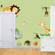 Wall Decor Sticker Aliexpresscom Buy Zoo Wall Stickers For Kids Rooms Wall Decals